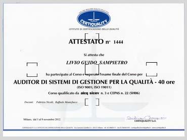 Sistema di gestione per la qualità UNI EN ISO 9001:2008